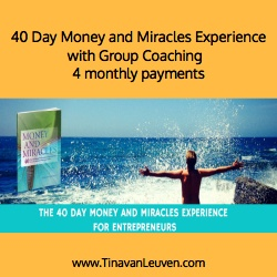 40 Day Money and Miracles Experience with Group Coaching - 4 Pay