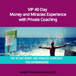 VIP 40 Day Money and Miracles Experience with Private Coaching
